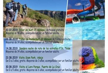 El plazo para inscribrise a la actividad 'Visita al Siam Park' del 14 de septiembre, comprendida en el programa 'Verano Joven 2019', finaliza este jueves