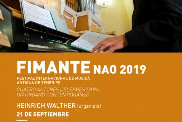 El 'Concierto Cuatro Autores para un Órgano' a cargo de Heinrich Walther, este sábado en la iglesia de El Médano