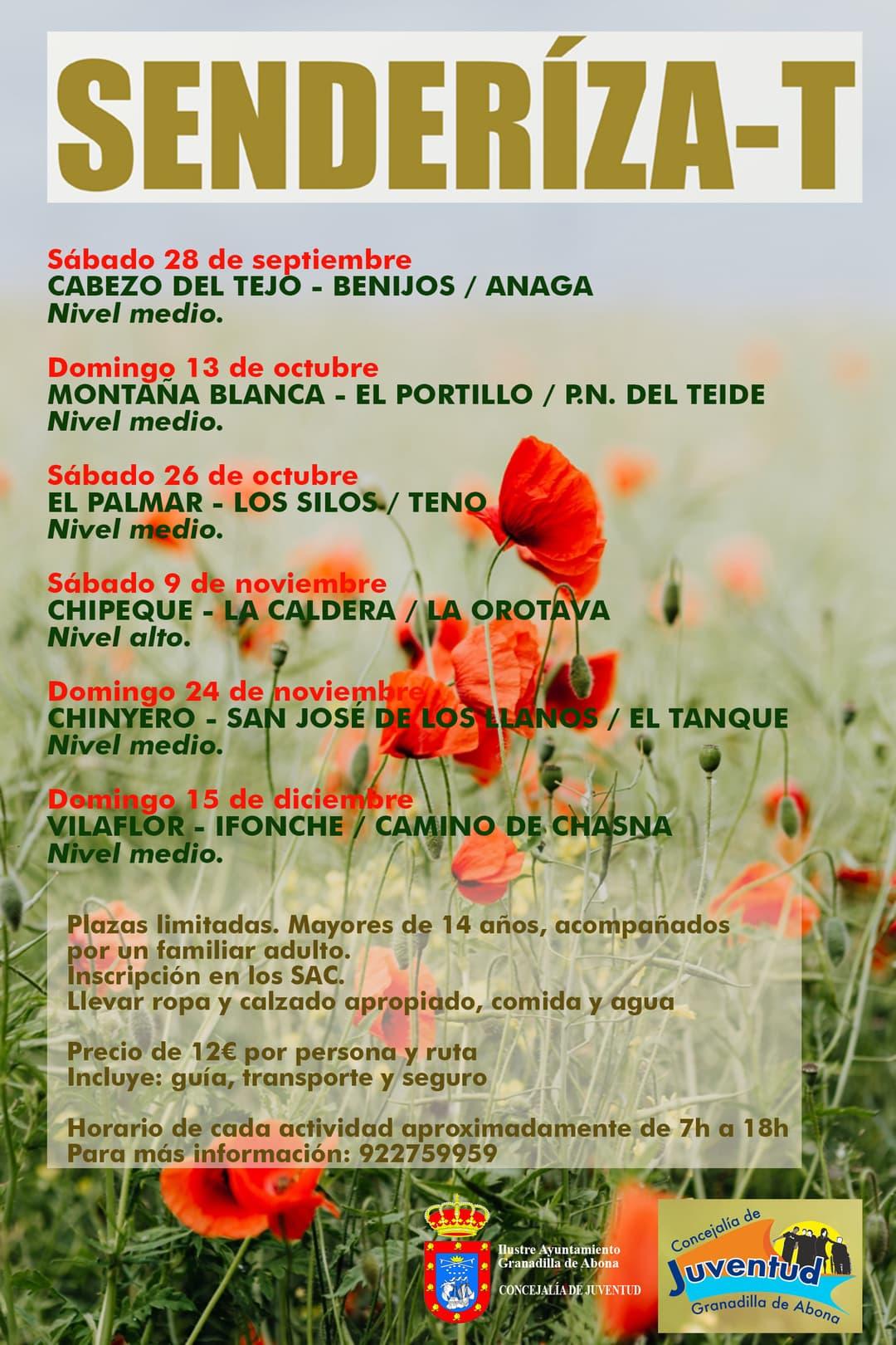 El plazo para inscribirse a la Ruta 'El Palmar – Los Silos / Teno' finaliza este jueves 24 de octubre