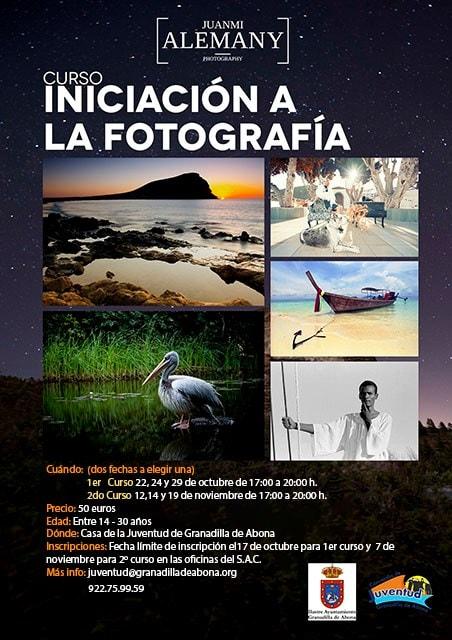 Curso de 'Iniciación a la Fotografía' para jóvenes a cargo de Juanmi Alemany, del 22 al 29 de octubre y del 12 al 19 de noviembre