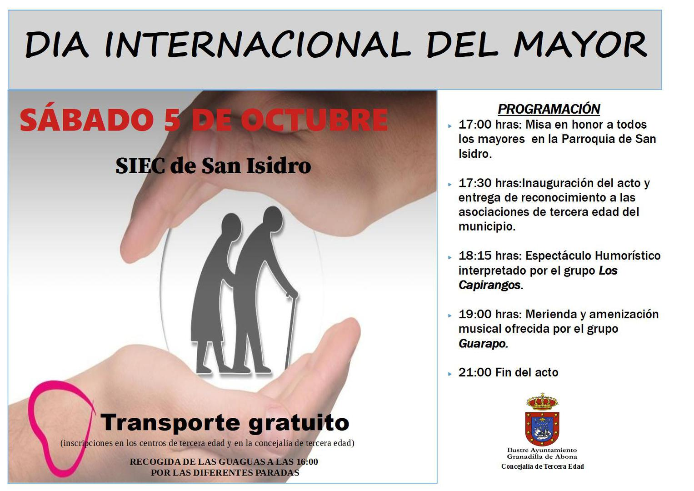 El 'Día del Mayor, Granadilla 2019', este sábado en San Isidro