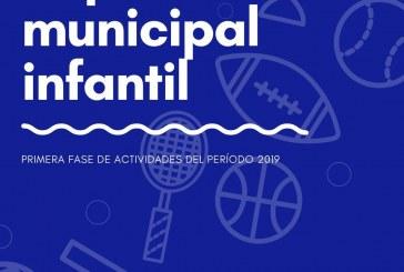 El 'Programa Deportivo Municipal Infantil 2019' desarrolla su primera fase hasta el 20 de diciembre