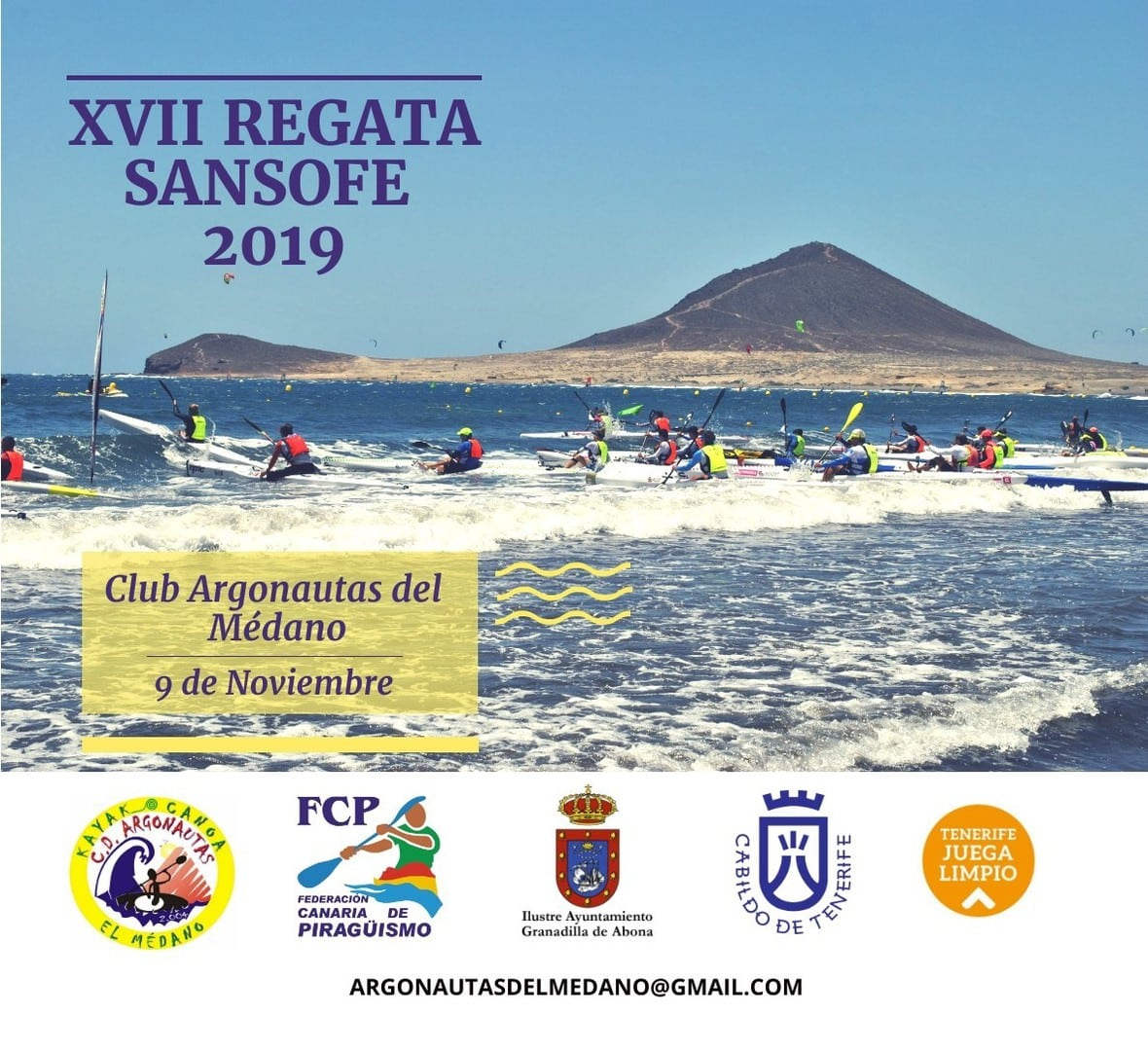 La 'Regata de Piragüismo Sansofé 2019' este sábado en El Médano