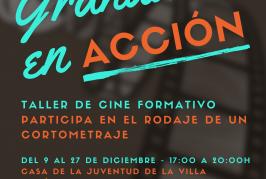 El plazo para inscribirse al Taller de Cine Formativo 'Granadilla en Acción' finaliza el próximo lunes