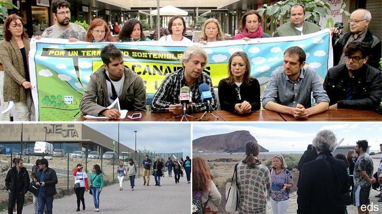 Resultado de imagen de Eurodiputados visitan La Tejita para comprobar el impacto del futuro Hotel