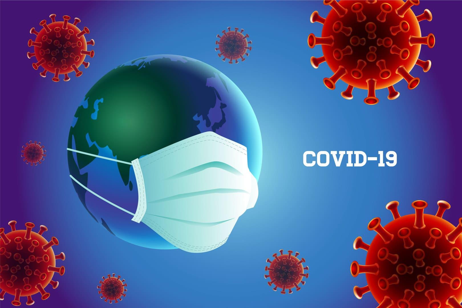 prevención del coronavirus covid-19 con máscara con tierra ...