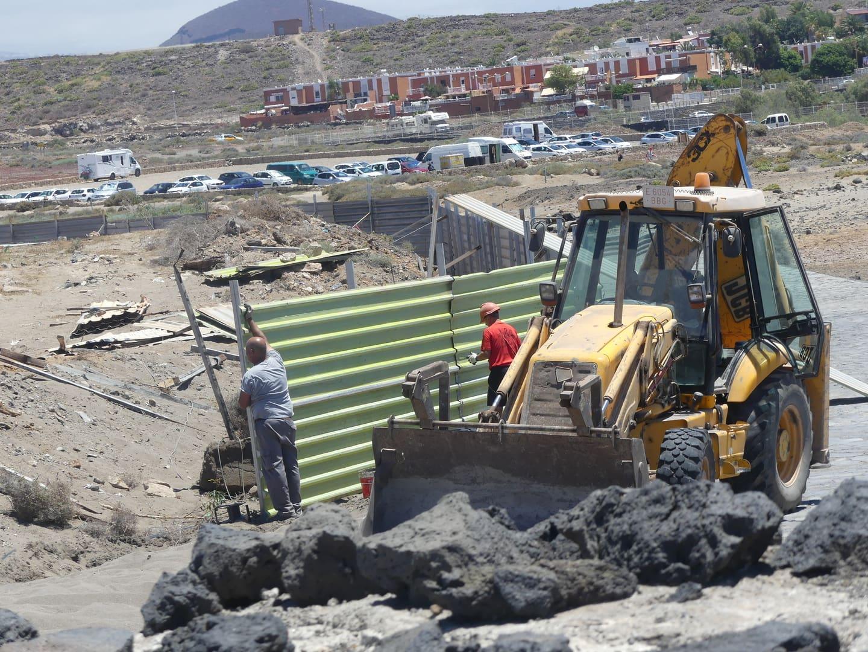 Resultado de imagen de construcción del hotel en La Tejita