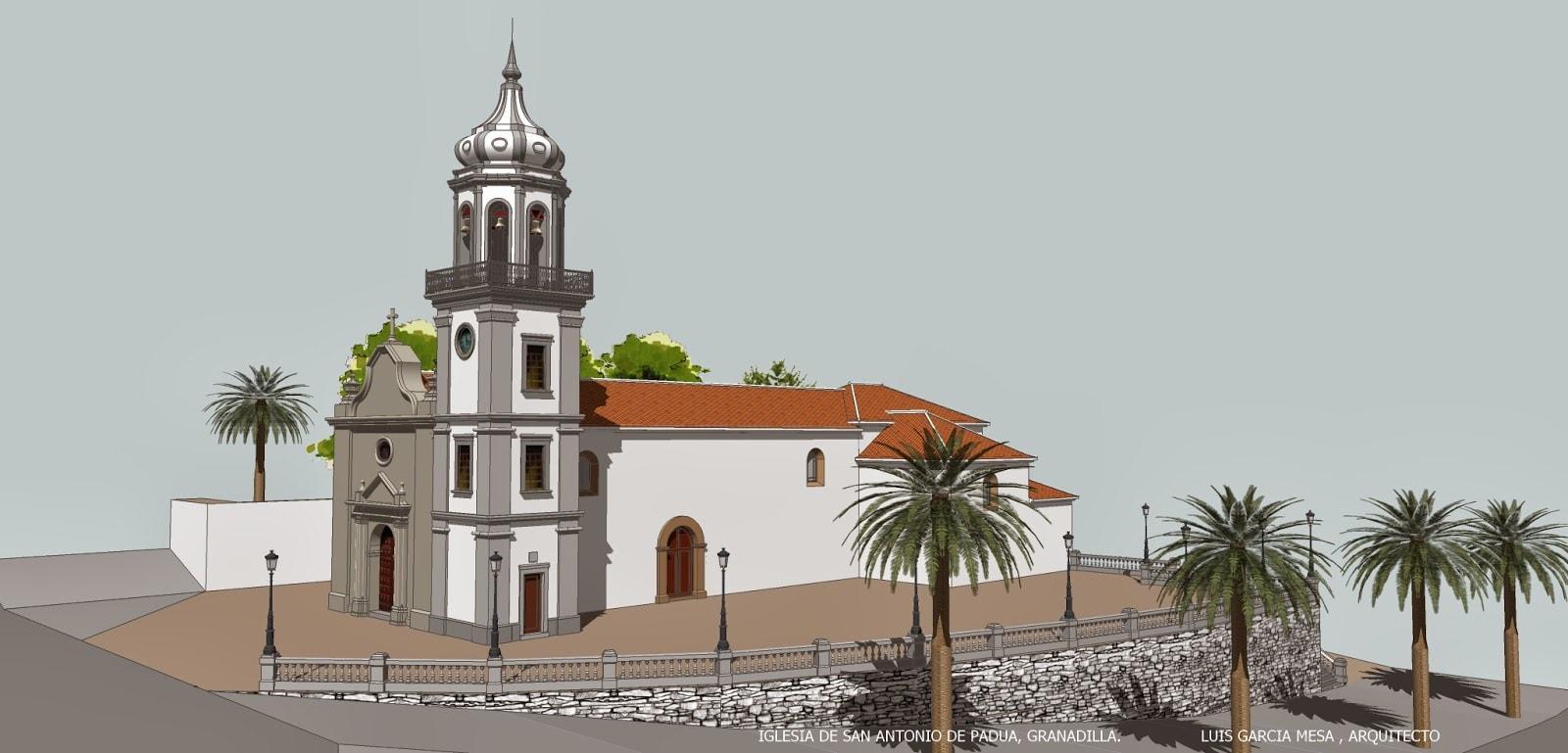 Resultado de imagen de iglesia de san antonio de padua en granadilla de abona
