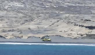 El vehículo de Socorrismo en la Reserva Especial Montaña Roja.
